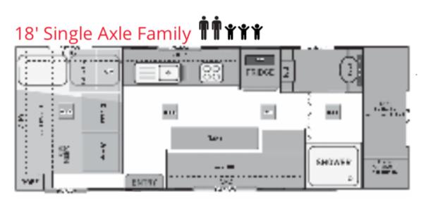 Trackvan by Millennium Caravans - Layout - 18' Single Axle Family
