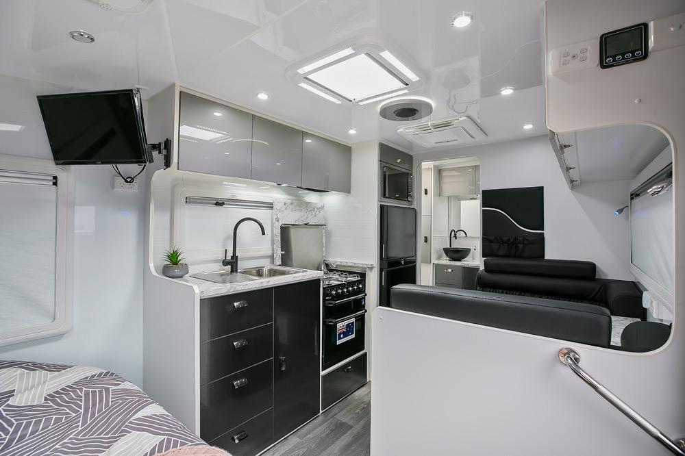 Trackvan by Millennium Caravans - Interior Kitchen
