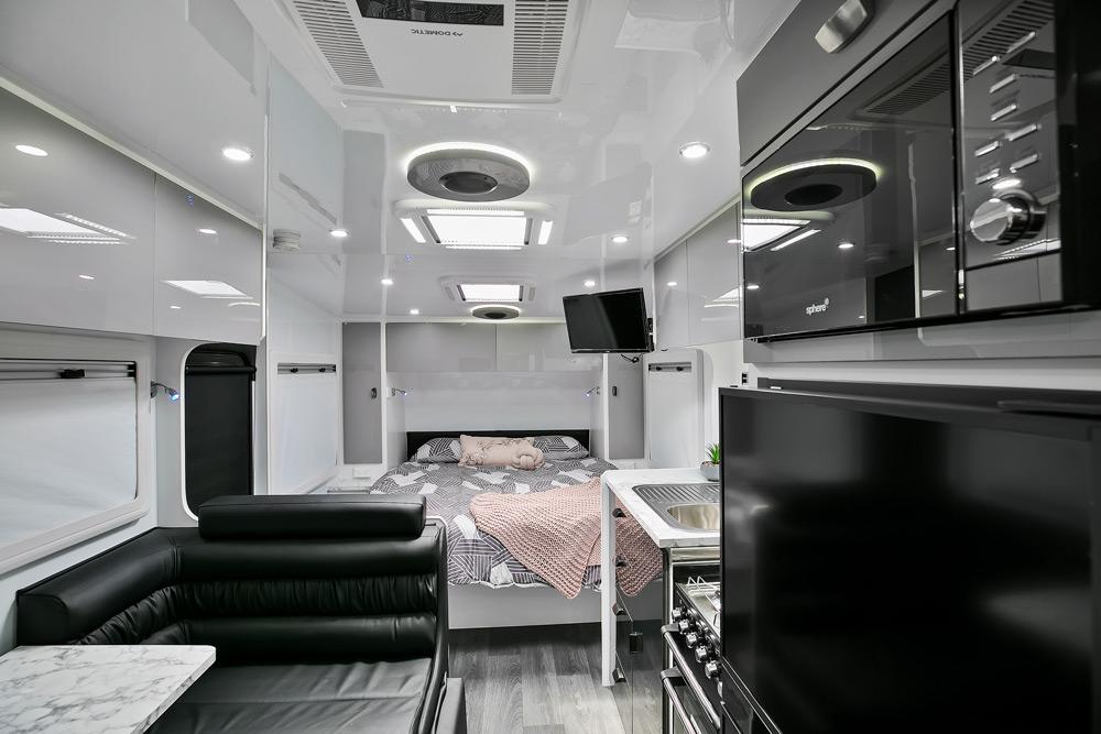 Trackvan by Millennium Caravans - Interior Bed