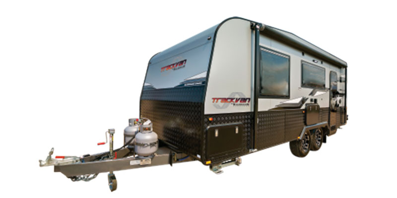 Trackvan by Millennium Caravans - Caravan on White Background