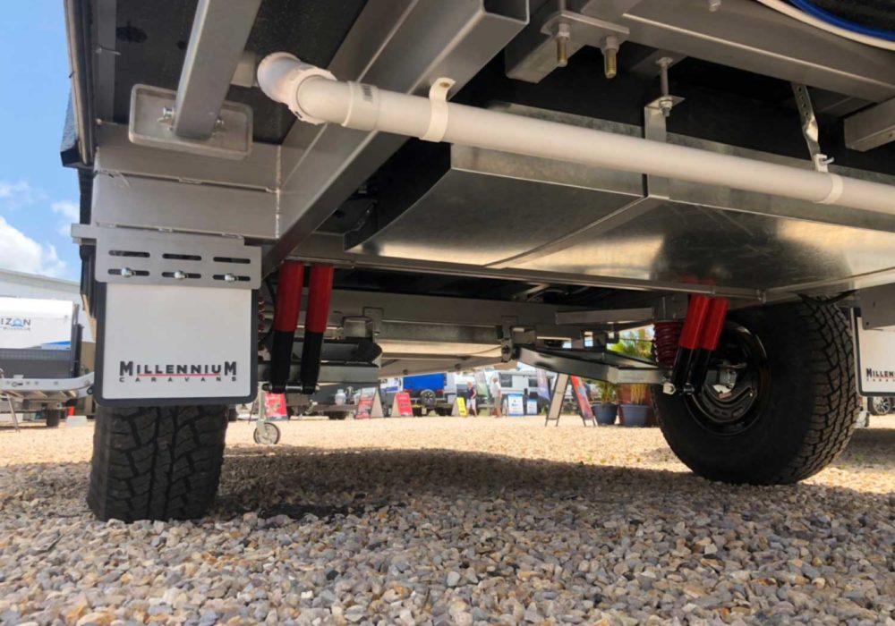 Trackvan by Millennium Caravans - Underneath View