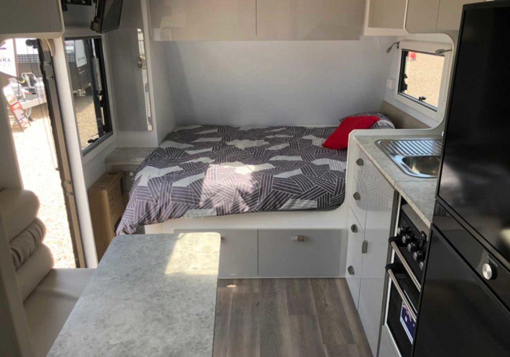 Trackvan by Millennium Caravans - Bed